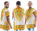 2016 Nueva Ropa para hombres ajustado Dashiki Africano camiseta negro de manga larga otoño Dashiki tops hombres camiseta Ocasional de la vendimia azul