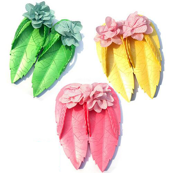 summer women jelly hawaiian sandals slippers leaf flower beach flip flops thong supercolor comfort shoes woman massage sanglaide