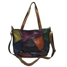 cc0166553d11 AETOO кожаные сумочки 2018 новый первый слой кожи леди Ретро литературный  простой ручной цветной сумка(