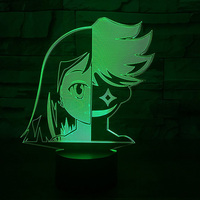 3D Led Home Decor 7 Colors Changing Cosplay Face Table Lamp Anime Atmosphere Baby Sleep Night