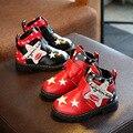 2017 Niños Del Invierno Botas de Nieve de Algodón Niño Y Niñas cargadores Calientes Diamante shoes26-30