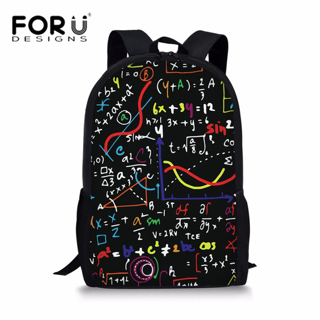 980675c2eb44 FORUDESIGNS Primary School Bags Backpack for Teenager Science Math Printing  Schoolbag Girls Boys Large Shoulder Book Bag Bolsa