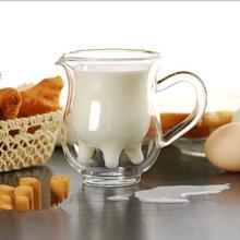 Kreatywna dwuwarstwowa szklanka z mlekiem filiżanka do kawy wysoka borokrzemianowa żaroodporna mała krowa szklana WF5151625 tanie tanio ROUND Szkło Przezroczysty Ekologiczne Zaopatrzony