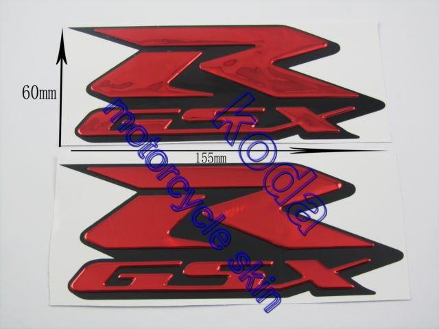 Free Shipping!Decals Stickers <font><b>L</b></font>&R SIDES EMBLEM FOR R-GSX GSXR 600 750 1000 k4 k5 k6 k7 k8 k9 <font><b>red</b></font> color