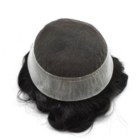 SSH Mens Toupee French Lace Replacement Poly Remy Hairpiece Wig Australia