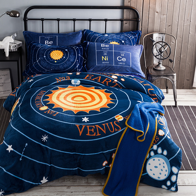 Online get cheap space comforter twin for Outer space bedding