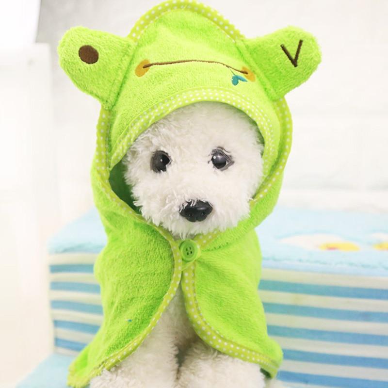 Secarse con Una Toalla de Baño Del Perro Mascota cachorro Albornoz Pijamas Manta
