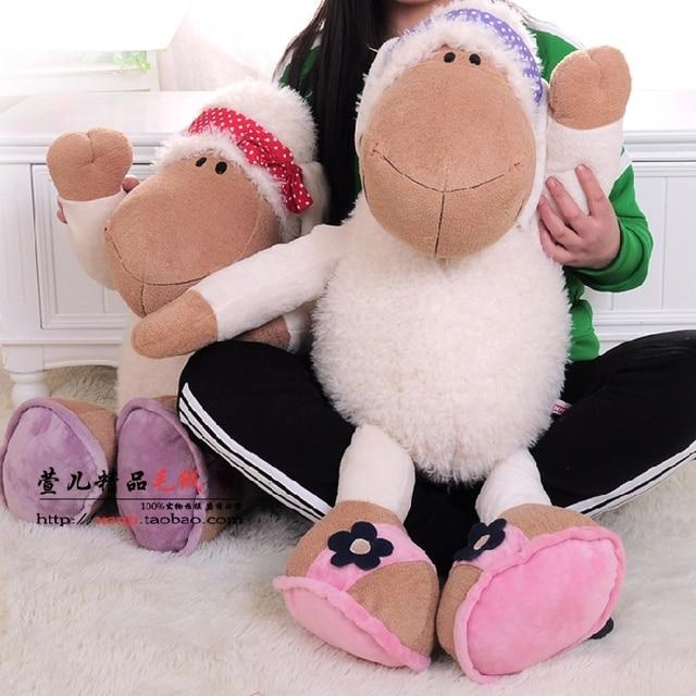 New Hot Big Size 80cm Germany Nici Jolly Mah Turban Sheep Animal Plush Toy 1pcs Children Birthday Christmas Present Lovers Soft