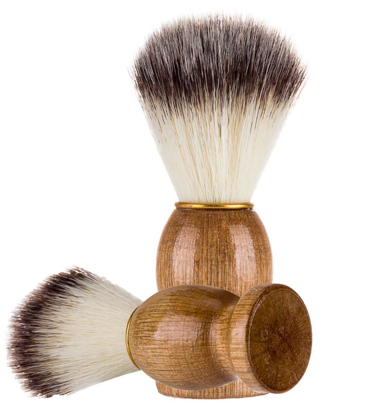 2018 волос барсука для мужчин бритья парикмахерские кисти салон лица борода бритвы инструмент приспособление для чистки кисточки с деревянной ручкой