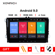 Xonrich 2 Din Android 9,0 Автомобильный мультимедийный для Amarok Фольксваген VW Passat B6 golf 56 Skoda Octavia 2 Superb 2 Seat Leon Navigation