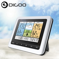 Digoo DG TH8888Pro Color Wireless Weather Station Home Thermometer USB Outdoor Forecast Sensor Clock