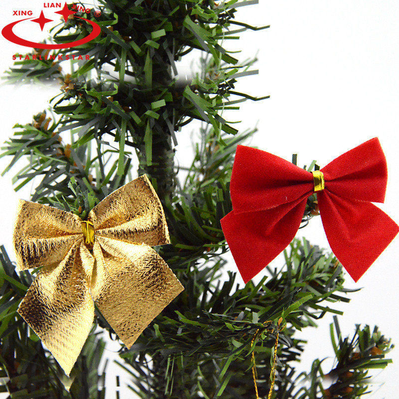 Christmas Tree Bows Decorations: Gold Bow Christmas Tree Decorations