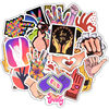 50Pcs Ins Style Gestures Sticker Funny Finger Hand Sign Decals Waterproof Laptop Skin Sticker DIY on Luggage Car Phone Computer