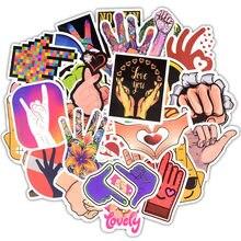 Жесты в стиле Ins, 50 шт., забавные наклейки для пальцев, водонепроницаемые наклейки для ноутбука, наклейки для багажа, автомобиля, телефона, компьютера