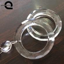 Четырехъядерный 1 шт. 50 мм Кристальный круг кольцо DIY люстра украшение кольцо для люстры части подвесные аксессуары