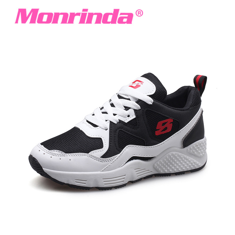 2018 New Women Sneaker Non Slip Running Shoes Breathable Mesh Sports Womens Summer Ladie ...