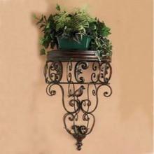 C Iron Wall shelving racks, wrought iron flower pot rack wall flower simple flower baskets