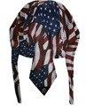 Free Shipping 2016 New Fashion Mens Vintage Breathable Mesh American Flag Star Du Rag Caps Male