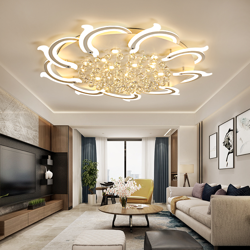 Modern Led Ceiling Lights For Living Room Bedroom Study Room Crystal lustre plafonnier Home Deco Ceiling Lamp avize цена 2017