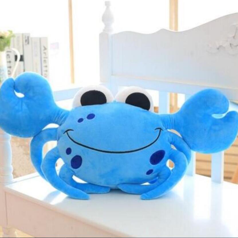 1pc 55cm Staffed Cute Crab Plush Pillows Creative Birthday Gift Cartoon Steamed Crab Plush Toys Kids Doll Sofa Cushion