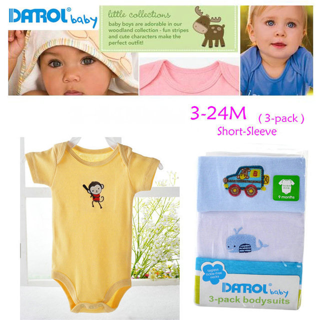 Free Shipping Hot Selling Darol Baby Romper 100 Cotton