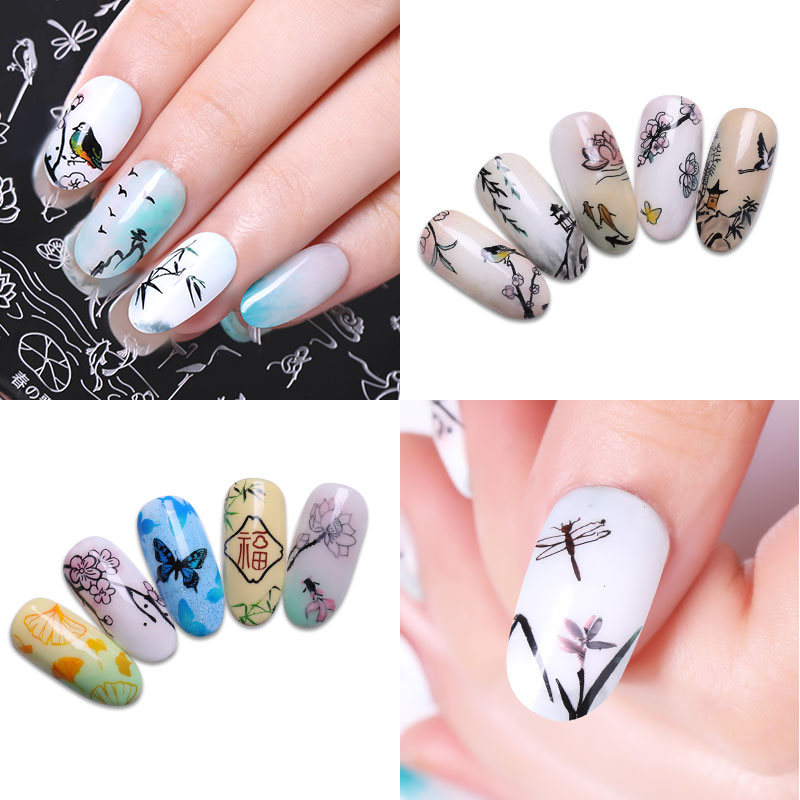 Harunouta Butterfly Dragonfly Nail Art Stamping Plate Nail Stamp