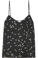 2 colors EQ 100% silk star print women camisole tank tops sleeveless lady vest