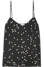 2 colours EQ 100% silk star print girls camisole tank tops sleeveless woman vest