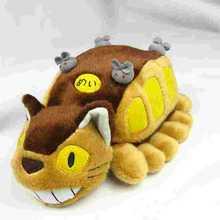 2015 New 30cm Hot Anime Studio Ghibli My Neighbor Totoro Cat Bus Stuffed Plush Doll cat toys for baby kids Christmas Gitfs