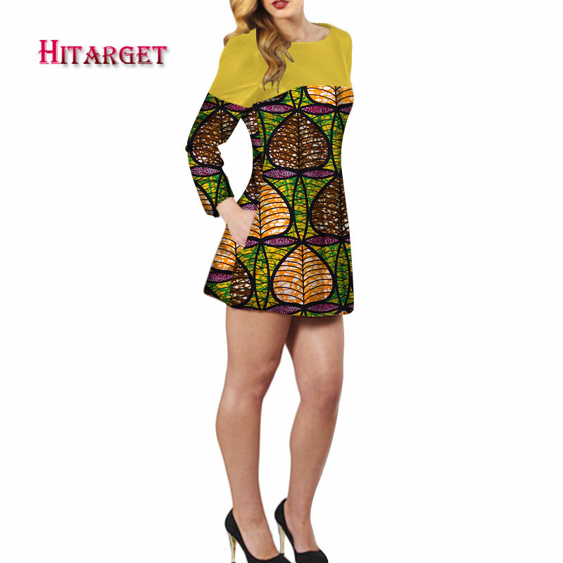 Dashiki African Dresses For Women 2018 Bazin Riche Long Sleeves African Dresses Ankara Fashion Elegant African Clothing WY311