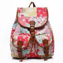 Корейская версия женщины холст досуг рюкзак плеча Богемный студент Колледжа мешок