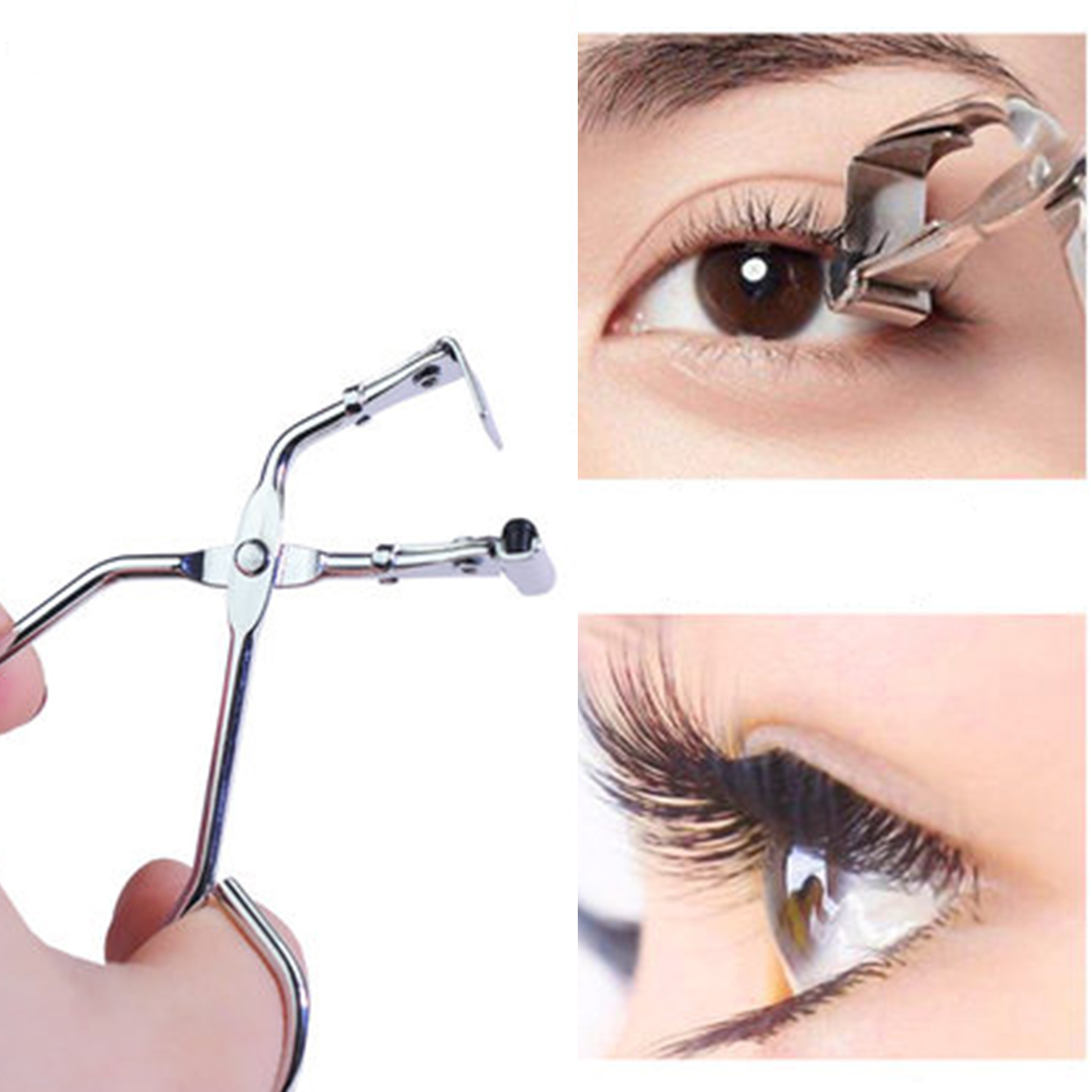 New Mini Eyelashes Curlers Nature Curl Steel False Eyelashes Women Pro Handle Eye Lashes Curling Clip Beauty Makeup Cosmetic Too