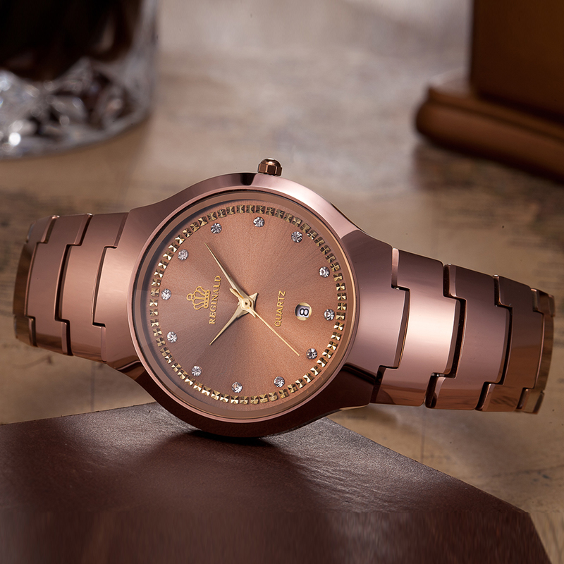 Relógios de Luxo de Alta Relógio de Pulso de Quartzo Marca Superior Reginald Qualidade Relógios Femininos Tungstênio Aço Montres Femmes Dames Horloge