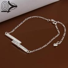 Lose Money!!Wholesale Silver Plated Anklets,Fashion Silver Foot Jewelry,LOVE Straight Tag Anklets Bracelet For Gift