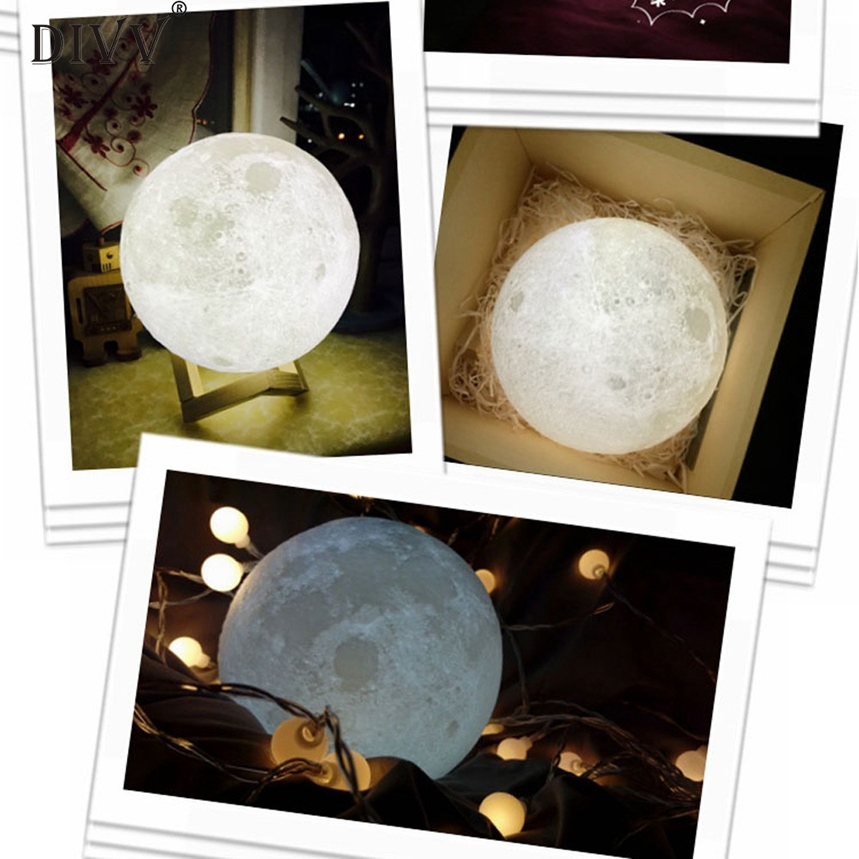 New Arrive 3D USB LED Magical Moon Decoration Light Moonlight Table Desk Moon Lamp Decor ...