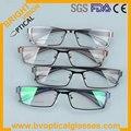 2262 Cómoda borde Completo marco de anteojos ópticos del metal con los templos TR90 de moda para los hombres miopía gafas eyewear