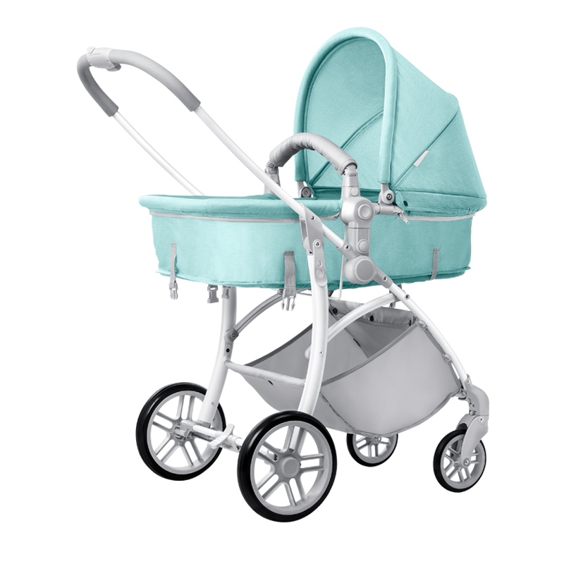 2017 BN baby trolley can ride a baby carriage light folding high-profile baby child umbrella stroller high profile luxury baby stroller can sit can lying baby carriage hand can adjustable trolley war ax wheel umbrella car