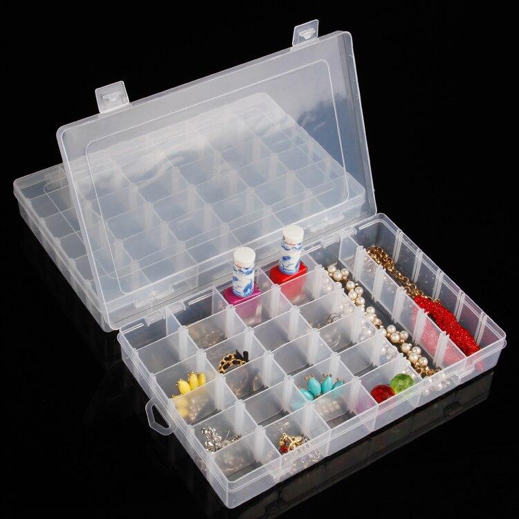 4b16db9d6 الجملة 3 قطع البلاستيك للتعديل مقصورة ويذ 36 المقصورات للمجوهرات/المنزل  باستخدام مربع