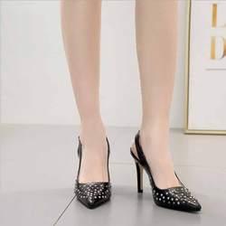 Женские босоножки, большие размеры, женские туфли на высоком каблуке из флока, женские туфли на квадратном каблуке, с пряжкой и ремешком, с