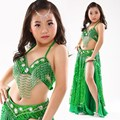 Kids Belly Dance Costumes Indian Dance Costumes Bollywood Dance Costumes Dancewear Children's Sets Top+Skirt+Belt