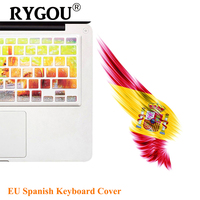 Gradient Ombre Colors EU Layout Keyboard Stickers For Apple Macbook Pro 13 15 17 Retina Macbook