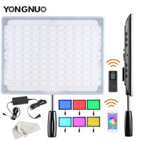 YONGNUO YN600 RGB Ultra Thin Video LED Video/ Photo Light with Adjustable Color Temperature 3200K 5500K + Power Adapter