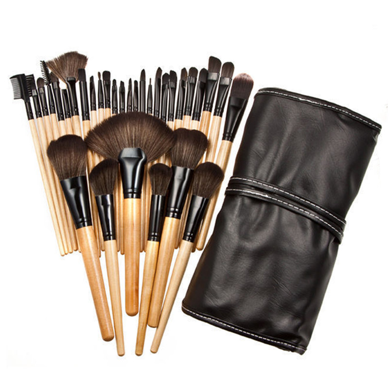 32Pcs Makeup Brushes Professional Soft Cosmetics Make Up Brush Set Kabuki Foundation Brush Lipstick Beauty maquiagem 26 pcs professional makeup brushes beauty woman s kabuki cosmetics makeup brush set tools foundation brush pincel de maquiagem