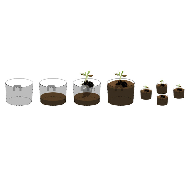 5Size 1-10 Gallon Round Black Non-woven Fabrics Pots Plant Pouch Root Container Grow Bag Aeration Container Nursery Pots