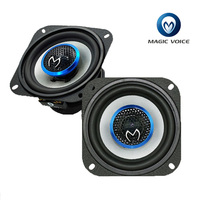 4 Inch Auto Loudspeaker Paired Automobile Automotive Car HiFi Coaxial Speaker with Bass & Tweeter Audio Music Speakers for Car