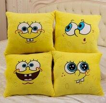 1 sztuk 34*34cm Cartoon Spongebob pluszowe zabawki miękkie Spongebob poduszka poduszki cztery modele mogą być wybrane zabawki dla dzieci