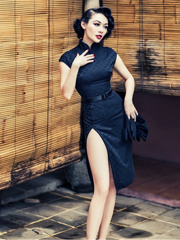 Vestido de fiesta Retro de estilo Cheongsam para chicas