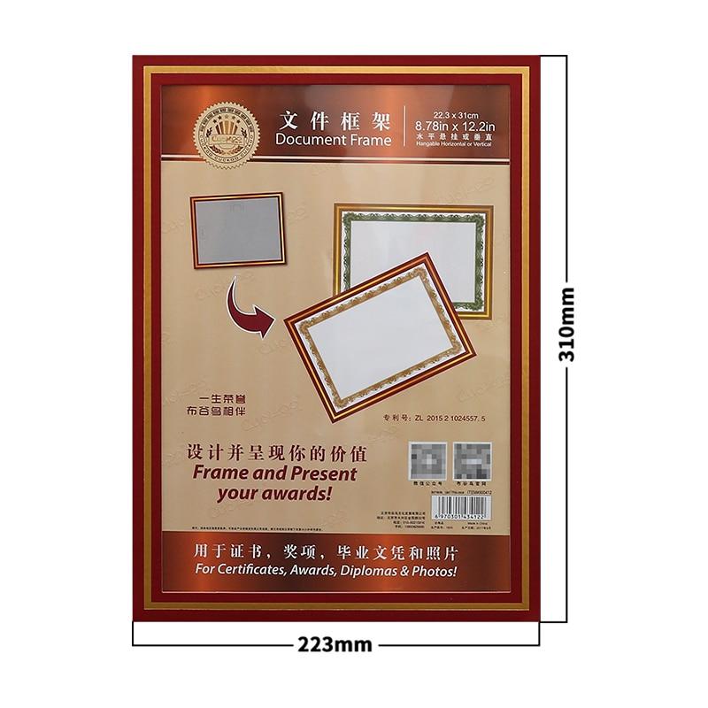 Купить с кэшбэком Cuckoo 1pcs honor certificate photo frame paper shell A4 certificate photo wall hanging creative business license storage holder