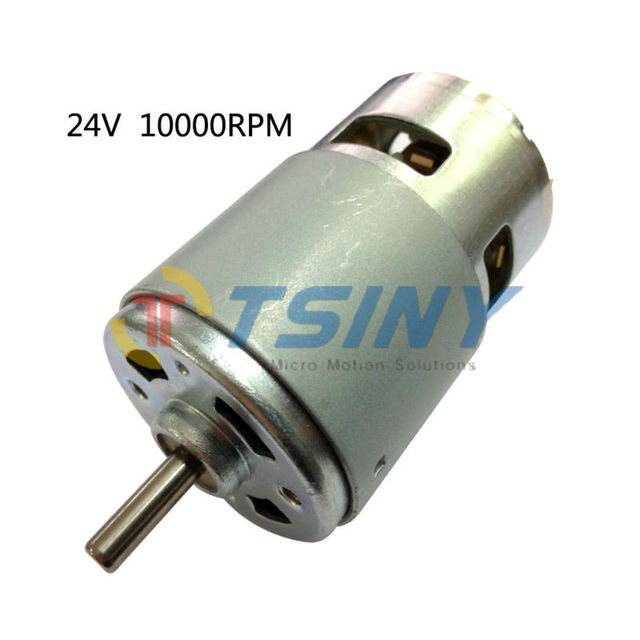 DC Motor High Torque 775 24V 10000rpm Electric DC Brushed Reversible High Speed DC Motor for DIY Driver Parts