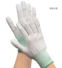 1 זוג כפפות בתמיסה אנטי סטטי ESD אלקטרוני עבודה כפפות pu מצופה פאלם מצופה אצבע מחשב מערכות עבור אצבע הגנה